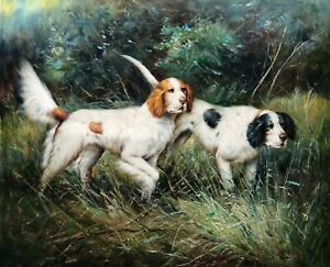 My dogs,Hand Painted Original Oil Painting, 61 X 51 cm