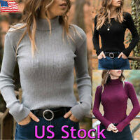 Warm Winter Turtleneck Soft Sweater Women Pullover Thick Knitted Basic Slim Top