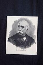Il patriota e politico italiano Francesco Crispi