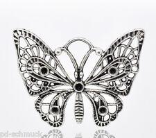PD: 10 Antik Silber Schmetterling Charm Anhänger 48x36mm