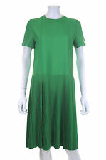 Jil Sander Lumen Pleated Crepe Dress / Green Pepper / RRP: £1,170.00