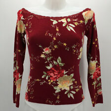 Blumarine Red Floral Print Sweater Size 6