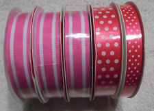 5 Bolts of Different types of Hot Pink Ribbon ( R-44 )