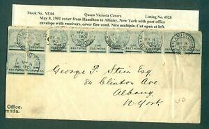 LOT 294  May 8, 1901 Cover from Hamilton to NY