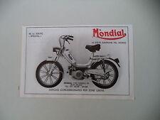 advertising Pubblicità 1978 MONDIAL 48 50 MATIC SPECIAL