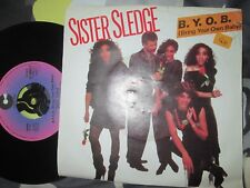 Sister Sledge ‎– B.Y.O.B. (Bring Your Own Baby) Cotillion UK 7inch Vinyl  Single