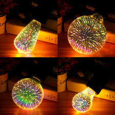 E27 4W Colorful 3D Christmas Holiday LED Fireworks Light Lamp Bulb Par