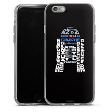 Apple iPhone 6 Silikon Hülle Case - R2-D2 Typo