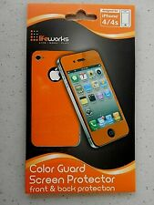Life Works COLOR GUARD Front & Back Shield Screen Protector for iPhone 4/4S