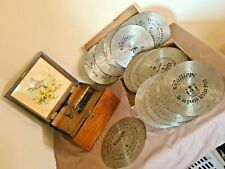 Polyphon Kalliope boite à musique à disque métallique fonctionne + 25 disques