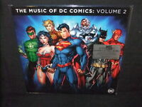 Music Of DC Comics Vol 2 TV Movie Soundtrack Sealed New 180g Colored Vinyl 2 LP