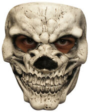 WHITE BONY SKULL LATEX FACE MASK SCARY HALLOWEEN HORROR