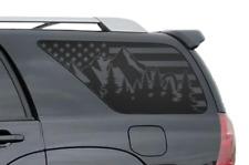 Fits 4Runner Outdoor Scene w/USA Flag Decals  Rear window 2002-2009 Toyota FR27M