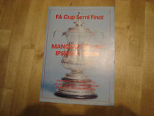 Manchester City Football FA Cup Fixture Programmes (1980s)