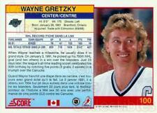 1991-92 Score Promos Canadian Bilingual #100 Wayne Gretzky