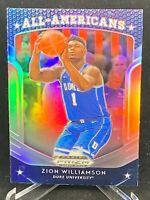 ZION WILLIAMSON 2019 Panini Prizm Draft Picks All-Americans Silver Zion RC #100