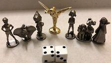Monopoly Disney Edition 2009 Hasbro Golden Tinker Bell Mover 6 Pewter Token Set