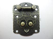 "Pair of bornze ""Secret"" jewelry box hasp latches Catch for box make- 53mm x 40mm"