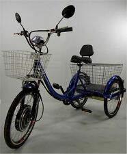 Motorized electric three wheels tricycle, adult scooter