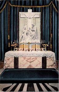 Postcard Narthex Shrine of The Little Flower in Royal Oak, Michigan~135721