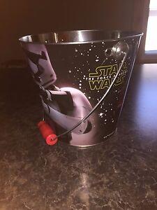 Metal Star Wars The Force Awakens Tin Halloween Pail Storm Trooper Kylo Ren