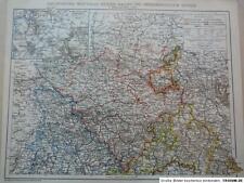 Landkarte Rheinprovinz, Westfalen, Hessen-Nassau, nördl. Teil, 1895, BH14