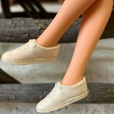 Barbie Doll Vintage White Squishy Rubber Tennis Sneakers Japan Sport Gym Shoes