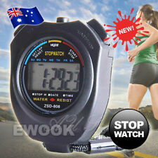 Digital LCD Chronograph Jumbo Stopwatch Handheld Sports Counter Timer Stop Watch