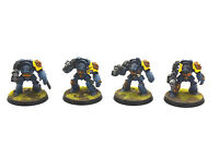 SPACE WOLVES 4 Wolf Guard Terminators #3 WELL PAINTED Warhammer 40K
