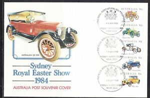 Australia 1984 Veteran & Vintage Cars BIG  First Day Cover - Sydney Show Grounds