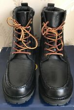 BNIB POLO RALPH LAUREN MENS WILLINGCOTT LEATHER BOOTS/SHOES SIZE UK 12 IN BLACK