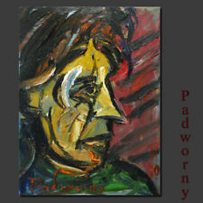New ListingAbstract-art Deco-realism -oil on canvas nyc painting- Male Figurative Painting