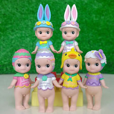 New 6Pcs Sonny Angel Easter Action Figure Set Baby Doll Collection Kids Toy Gift