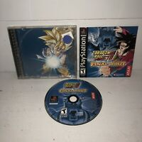 Dragon Ball GT: Final Bout Complete PlayStation 1 PS1 CIB TESTED & WORKS