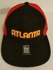 NIKE NBA Atlanta Hawks Hat-Black and Red Pro Swoosh Flex-Size M-Vintage Logo
