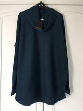 BNWT Adrienne Vittadini bottle green cowl neck sweater size L