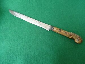 Antique Turkish Ottoman Balkan Knife Yatagan from circa 1800-1820