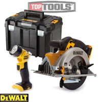 Dewalt DCS391N 18v XR 165mm Circular Saw Body With T-Stak Case & DCL040 Torch
