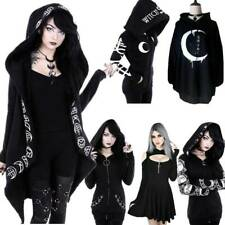 Womens Gothic Hooded Hoodies Sweatshirt Coat Halloween Party Swing Fancy Dress