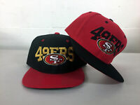 San Francisco 49ers Write Snap Back Cap Hat SF Embroidered Adjustable Flat Bill