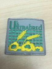"Vtg Ultrabred Seed Sew On Embroidered Patch 3"" Farming Farm Canola Loveland"