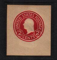 1915 stationery cut square Sc U429b unused 2c carmine Die 3 CV $40