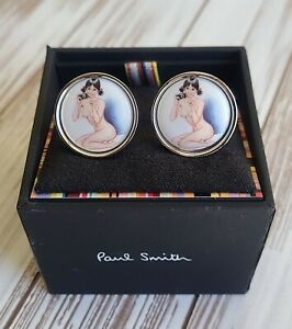 PAUL SMITH Vintage Naked Lady Cufflinks With Camera *EXTREMELY RARE* NWT 📷