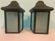 2 Outdoor wall lights -Porch Lights -Outdoor Sconces Black New