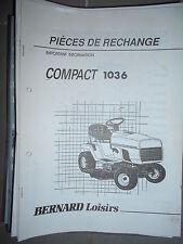 BERNARD tracteur Compact 1036 : Catalogue pièces