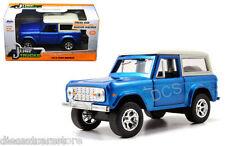 JADA  JUST TRUCKS 1973 FORD BRONCO BLUE 1/32 DIECAST CAR 97134