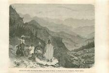 Valley Yangzi Jiang River Chang Jiang Yang-tseu Kiang CHINE CHINA GRAVURE 1873
