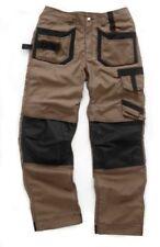 Pantaloni da uomo marrone in cotone taglia 36