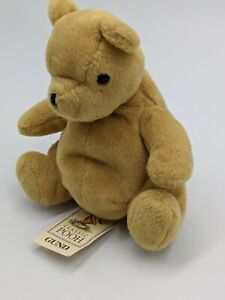 GUND Vintage Classic Pooh Disney Winnie The Pooh Stuffed Plush Beanie Bear