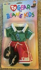 NIP TY Gear for Beanie Kids SOCCER Outfit ~ Jersey Shorts Shoes Shin Guards
